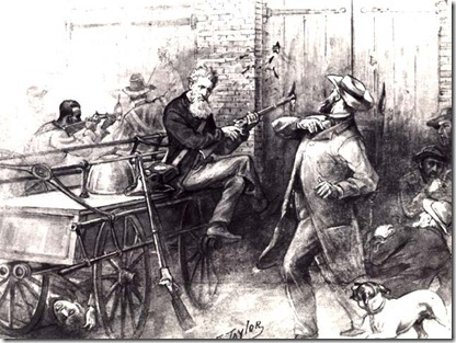 John Brown with Hostage