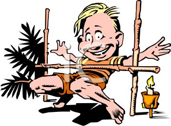 0511-1002-1716-1212_Guy_on_Vacation_Doing_the_Limbo_clipart_image